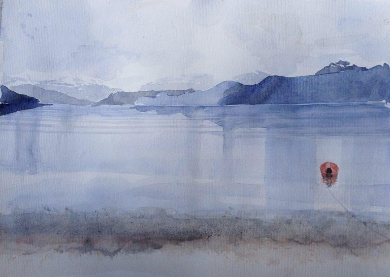 77-Noorwegen/aquarel/30x40cm