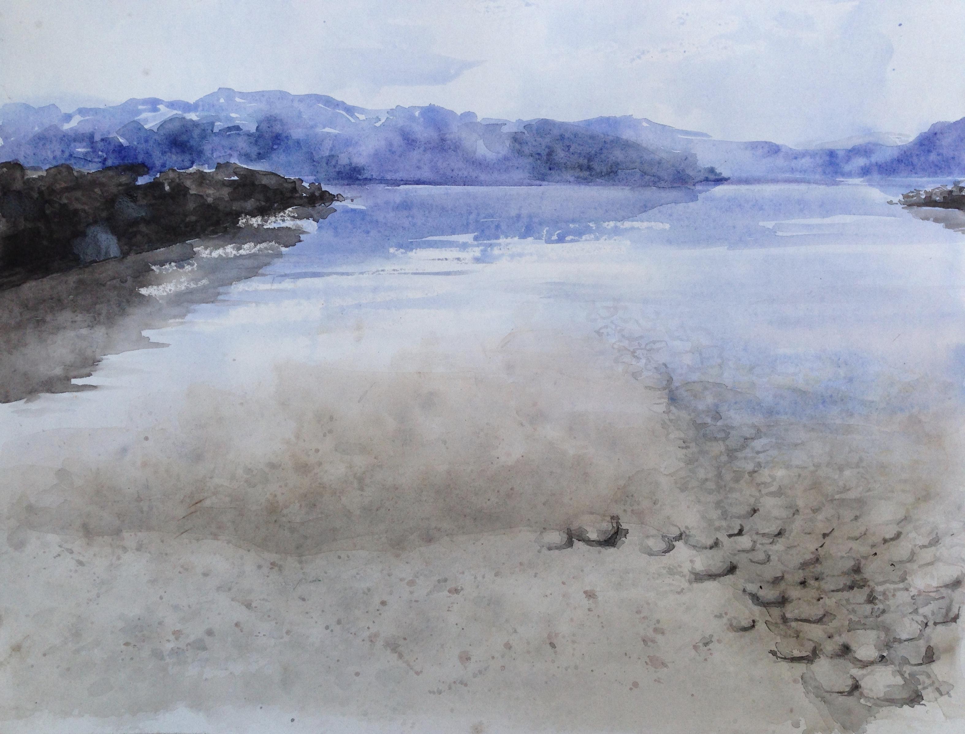 79-Noorwegen/aquarel 40x50cm