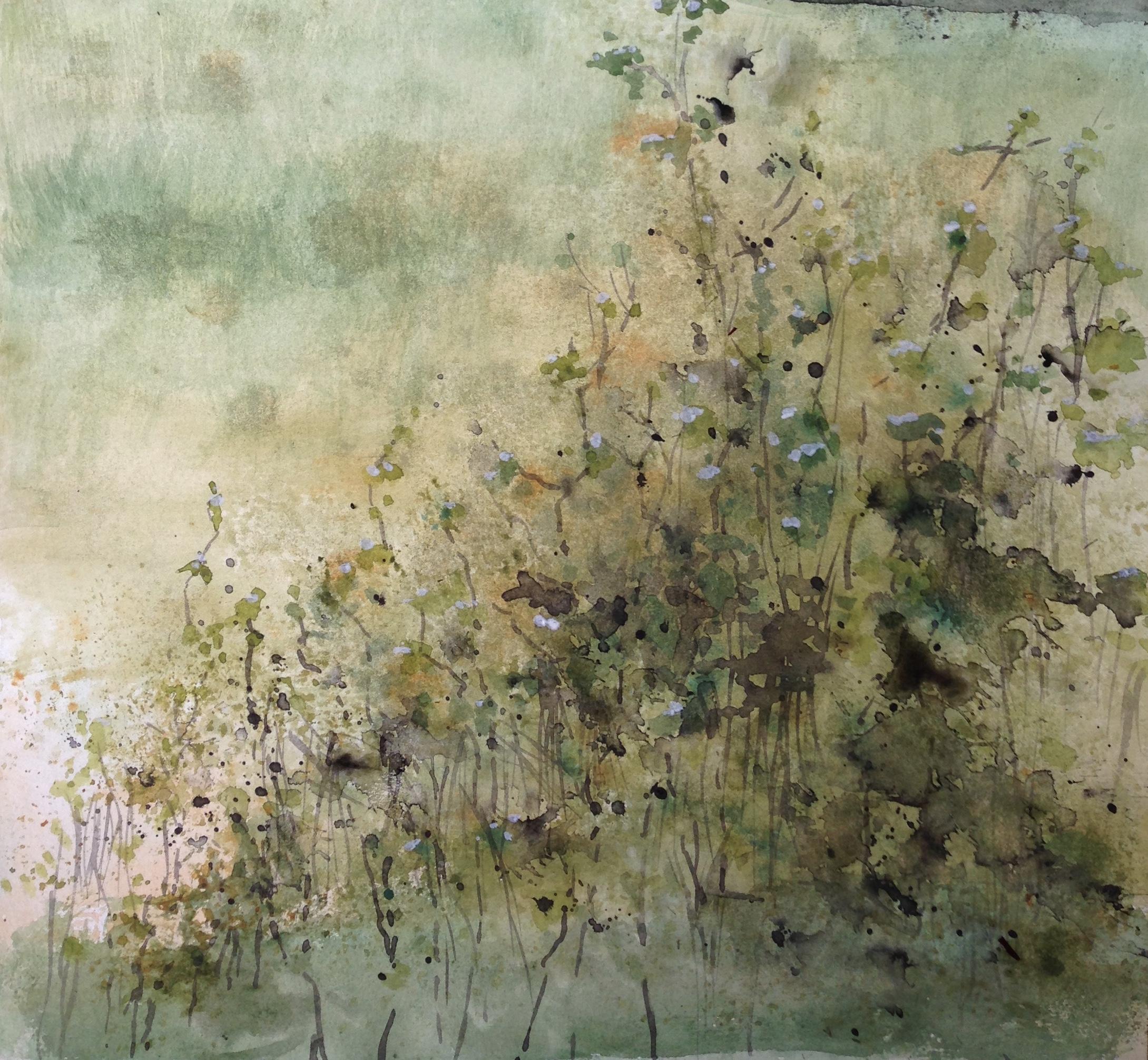 105-braambessen/aquarel 30x30cm