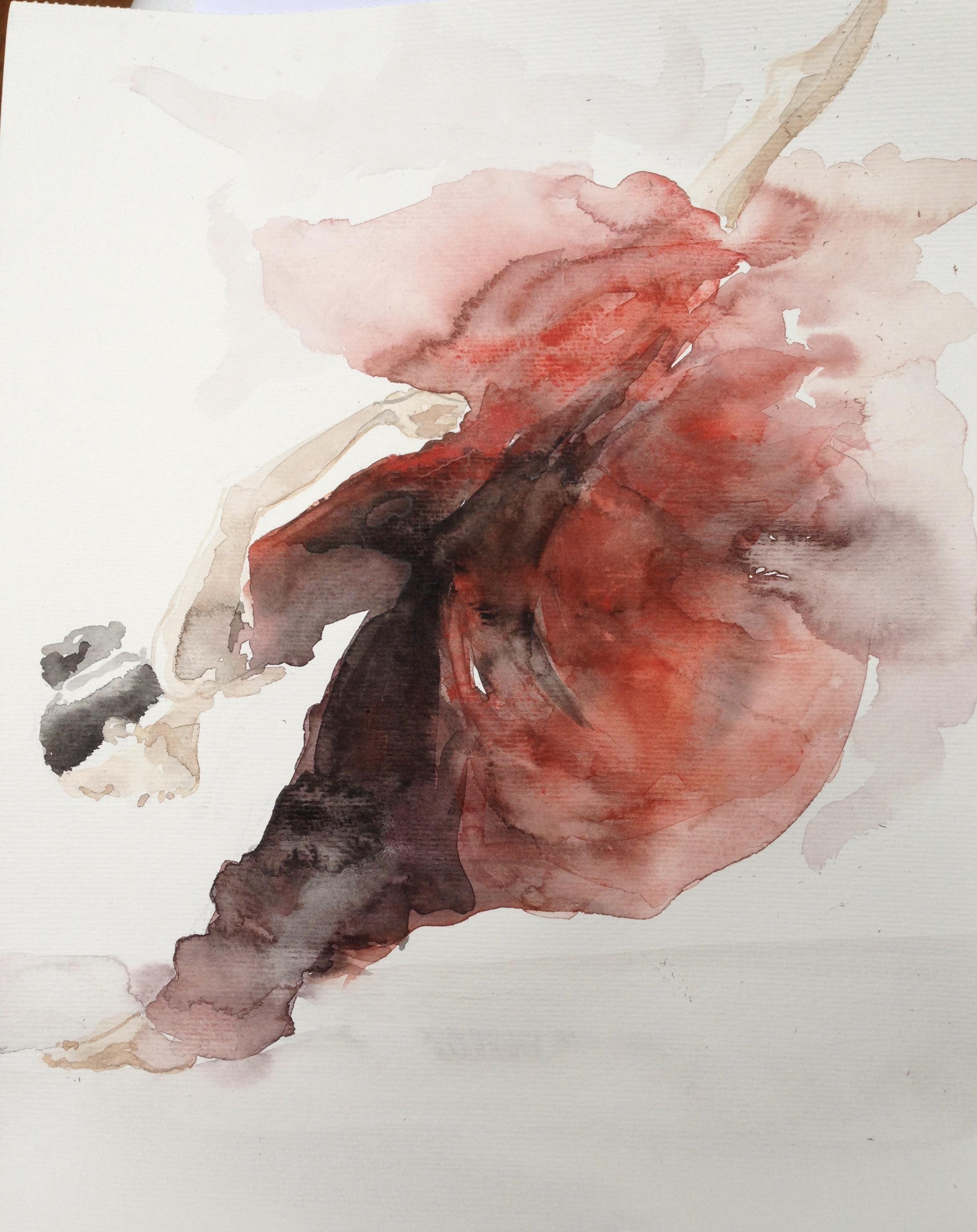 S-Ballerina/aquarel