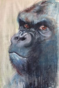 139-Gorilla/gewassen pastel 50 X 70cm
