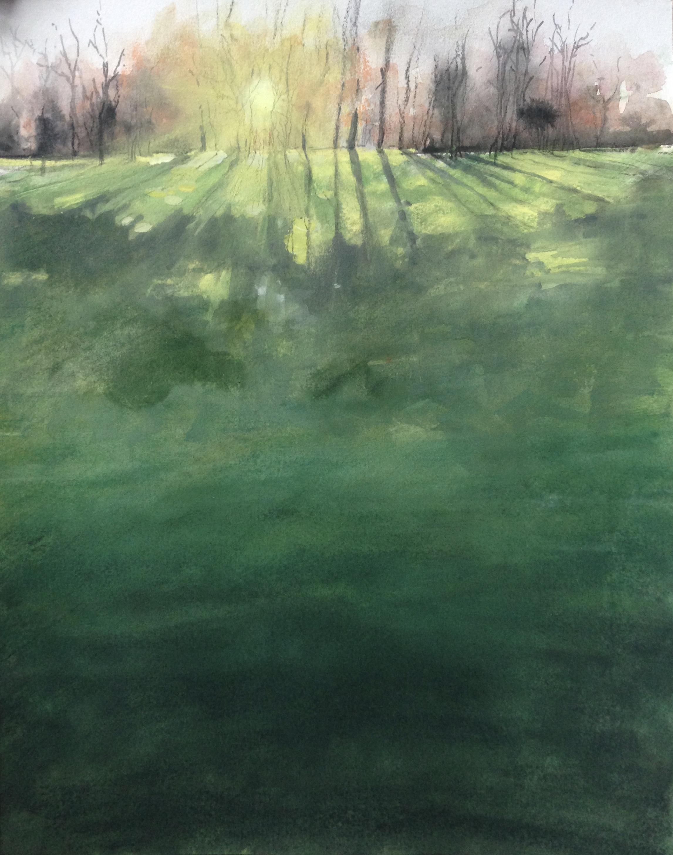 174-winterlight/aquarel/gouache 30x40cm