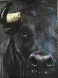 S-197- Bull/acryl 60x80cm