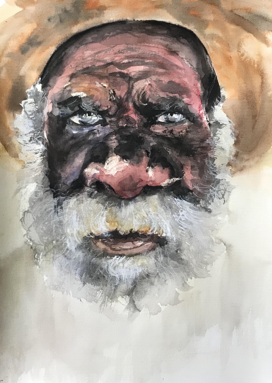 236-aboriginal/aquarel 30x40cm