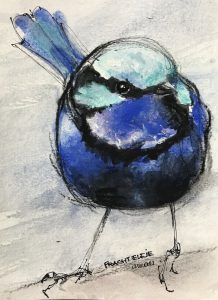 238-prachtelfje/aquarel/pastel 14x18cm