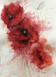 245- Poppy /aquarel 30x40cm