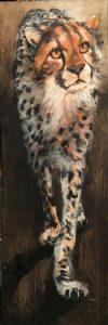 167- Cheetah 40x120cm/olieverf